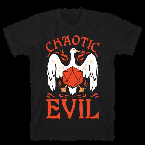 Chaotic Evil Goose Mens/Unisex T-Shirt