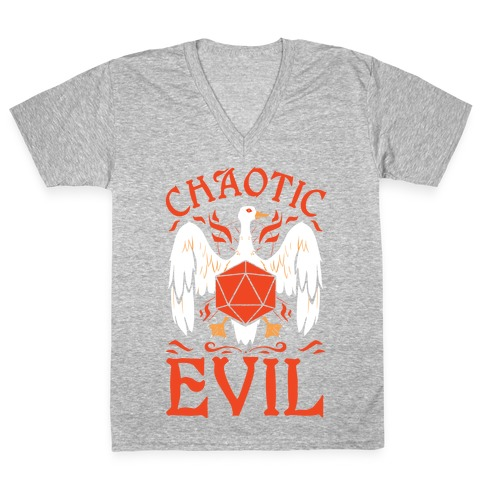 Chaotic Evil Goose V-Neck Tee Shirt