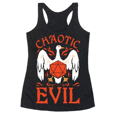 Chaotic Evil Goose Racerback Tank Top