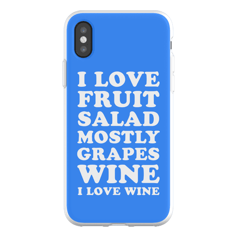 Wine I Love Wine Phone Flexi-Case