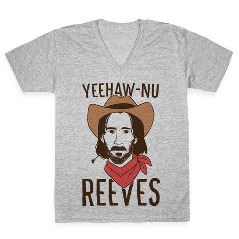 Yeehaw-nu Reeves V-Neck Tee Shirt