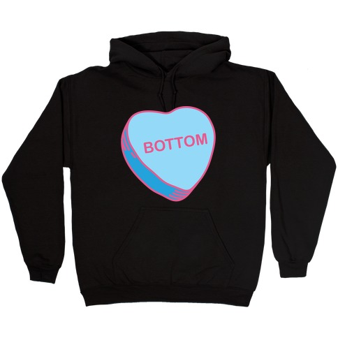 Bottom Candy Heart Hooded Sweatshirt