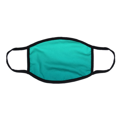 Teal Gradient Flat Face Mask