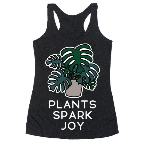 Plants Spark Joy Racerback Tank Top