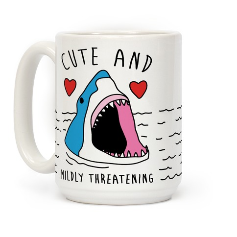 Cute And Mildly Threatening Shark Coffee Mug