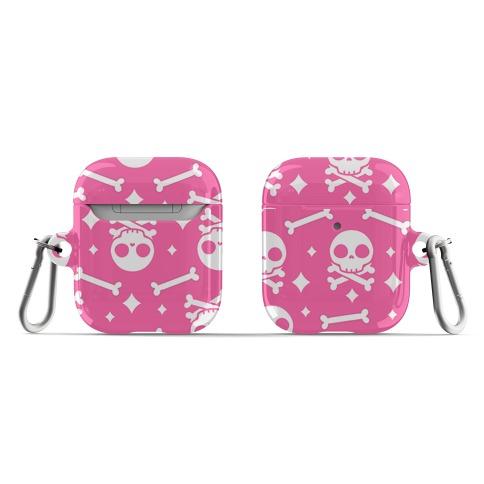Cute Skull N' Bones Pattern (Pink) AirPod Case
