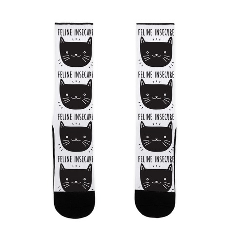 Feline Insecure Cat Sock