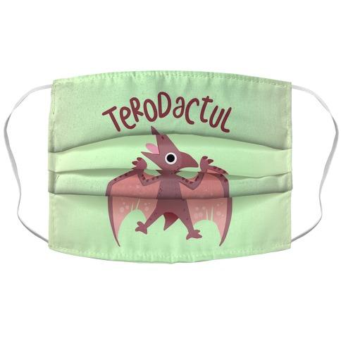Derpy Animals Terodactul Accordion Face Mask