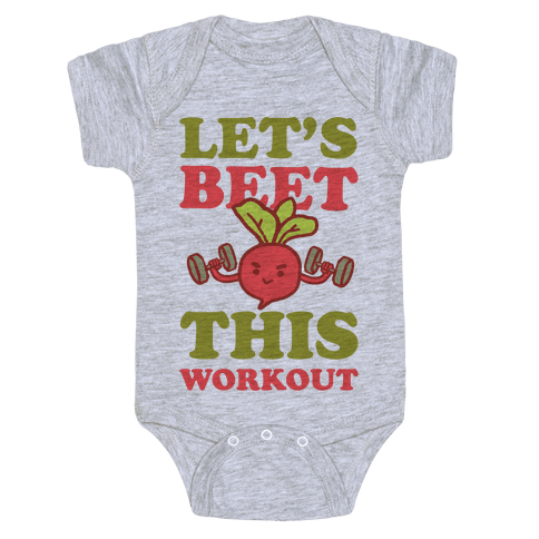 Let's Beet This Workout Baby Onesy