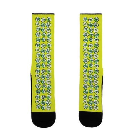 Wasabi Peas Pattern Sock