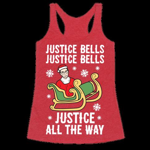 Justice Bells RBG Racerback Tank Top