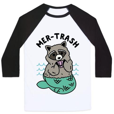 Mer-Trash Raccoon Baseball Tee