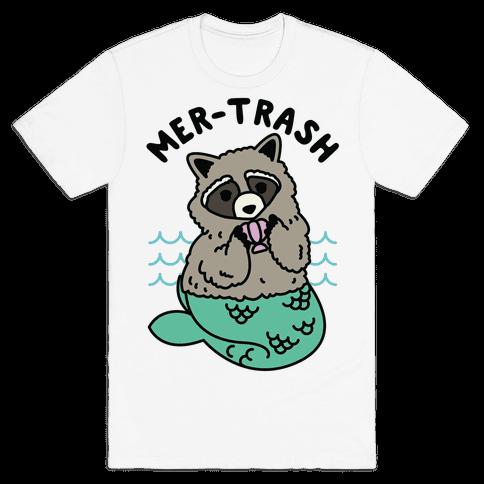 Mer-Trash Raccoon Mens T-Shirt