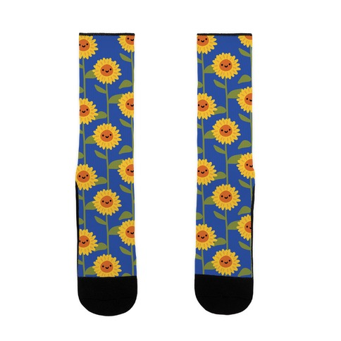 Happy Sunflower Pattern Sock