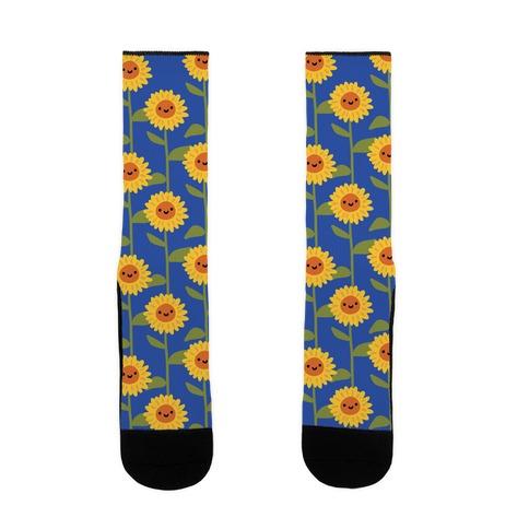 Happy Sunflower Pattern Sock