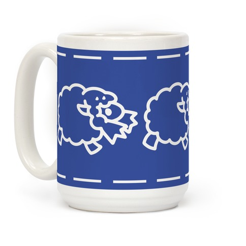 Wooloo Blue Pattern Coffee Mug