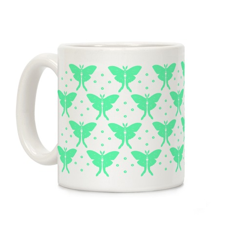 Luna Moth Boho Pattern Coffee Mug