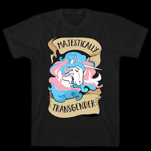 Majestically Transgender Mens T-Shirt