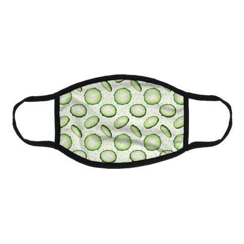 Refreshing Cucumber Pattern Flat Face Mask