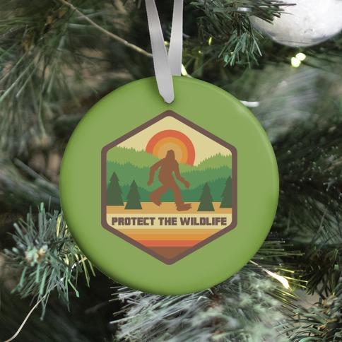 Protect The Wildlife (Bigfoot) Ornament