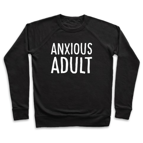 Anxious Adult White Print Pullover