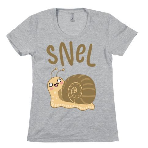 Snel Derpy Snail Womens T-Shirt
