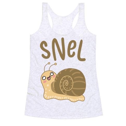 Snel Derpy Snail Racerback Tank Top