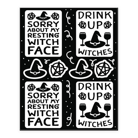 Drink Up Witches Stickers Sticker and Decal Sheet