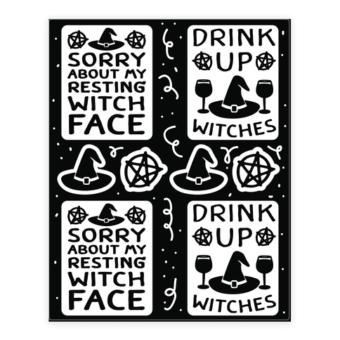 Drink Up Witches Stickers Sticker/Decal Sheet