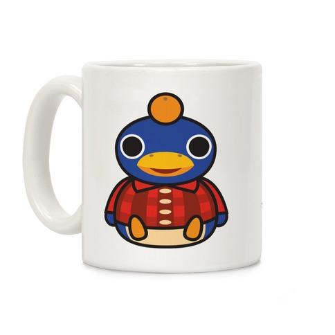 Roald Sitting With An Orange On His Head (Animal Crossing) Coffee Mug