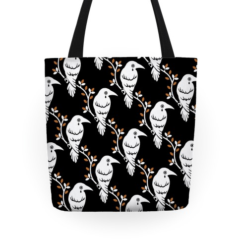 Crying Crow Pattern Tote