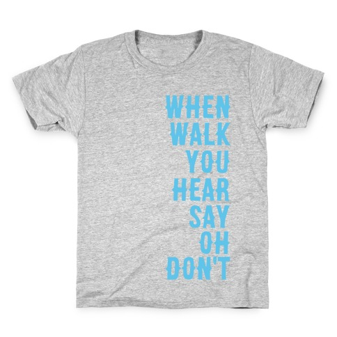 Simple and Clean Lyrics (1 of 2 pair) Kids T-Shirt