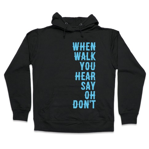 Simple and Clean Lyrics (1 of 2 pair) Hooded Sweatshirt