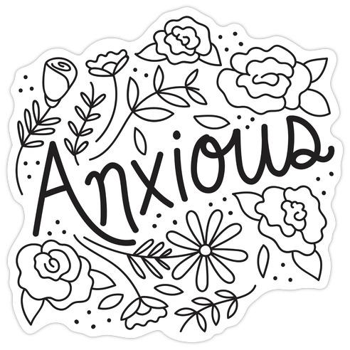 Anxious Florals Die Cut Sticker