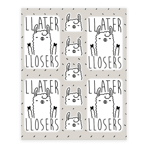 Llater Losers Llama Sticker/Decal Sheet