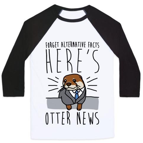 Otter News Baseball Tee