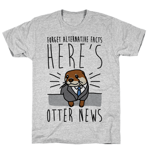 Otter News Mens T-Shirt