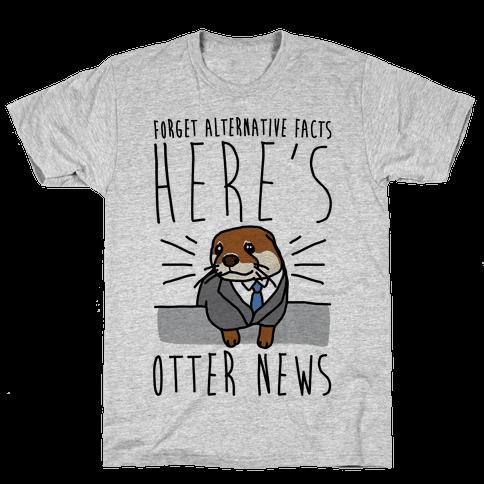 Otter News Mens T-Shirt