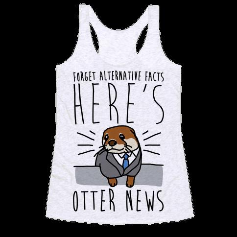 Otter News Racerback Tank Top