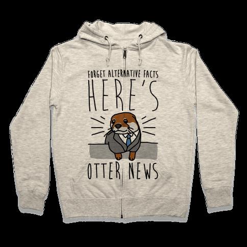 Otter News Zip Hoodie