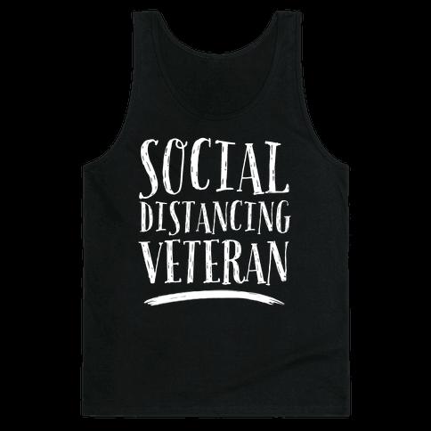 Social Distancing Veteran Tank Top