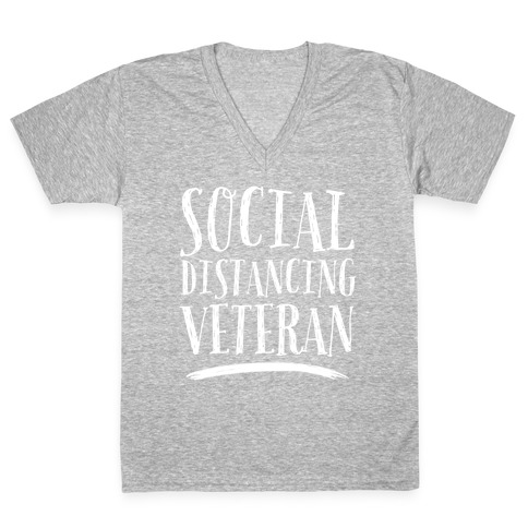 Social Distancing Veteran V-Neck Tee Shirt