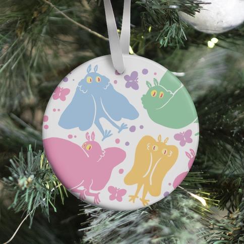 Cute Pastel Mothman Pattern Ornament