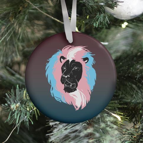 Trans Lion Pride Ornament