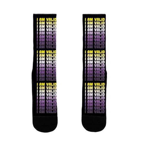 I Am Valid - Non-binary Sock