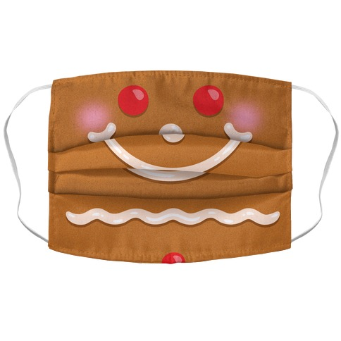 Gingerbread Face Accordion Face Mask