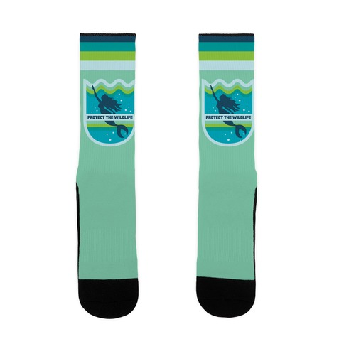 Protect The Wildlife (Mermaid) Sock