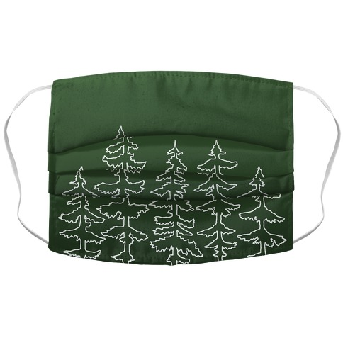 Evergreen Pines Gradient Accordion Face Mask
