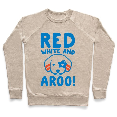 Red White and Aroo Pullover