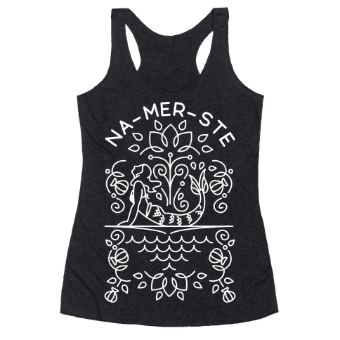 Na-Mer-Ste Mermaid Yoga Racerback Tank Top